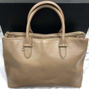 Lauren Ralph Lauren Newbury Tan Satchel Bag